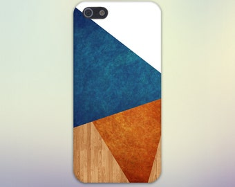 Geometric Orange x Blue Marble x Wood Design Case for iPhone 6 6 Plus iPhone 7  Samsung Galaxy s8 edge s6 and Note 5  S8 Plus Phone Case