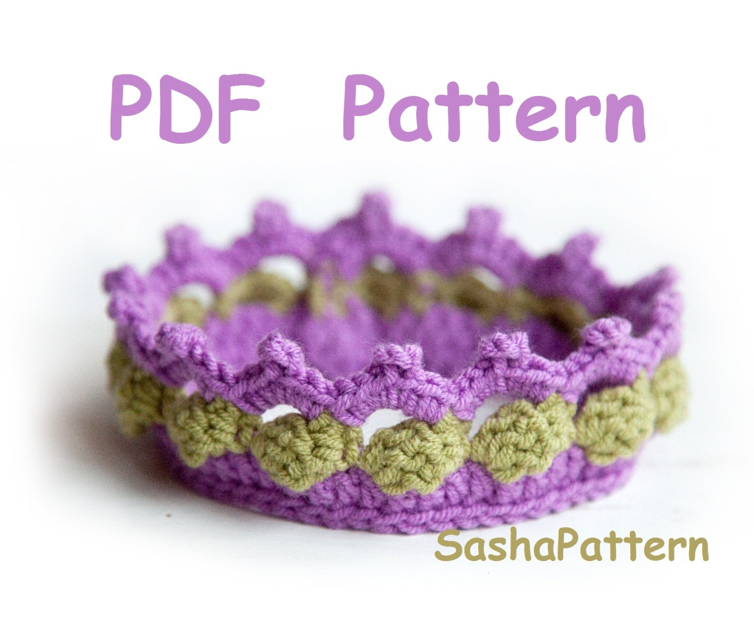 Crochet Free Pattern Promotion Shop For Promotional: Crochet Baby Crown Pattern Promo Price Pattern Easy Level