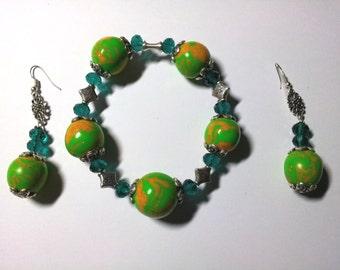 "Jewelry Set ""PC Green 1"""