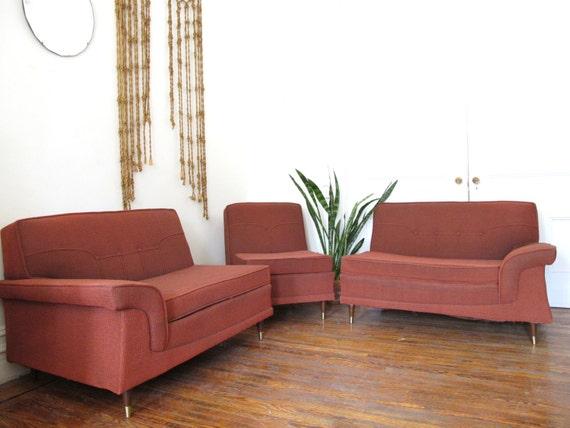 Mid Century Modern Kroehler Sectional Sofa Vintage Modular