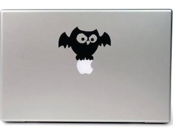 Macbook decal, Halloween gift, Apple mac decal, Owl, Skull,Spider, macbook stickers MacBook ipad decal