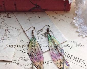 """Pretty """"New"""" faerie wing earrings"""