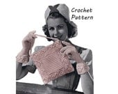 Lacy Bag and Gloves Crochet Pattern || Vintage 1940's' || Reproduction PDF Instant Download 1001-BGTB
