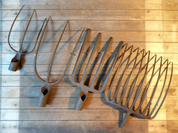 French Garden Tools Farming Tools Antique Pitchforks Old