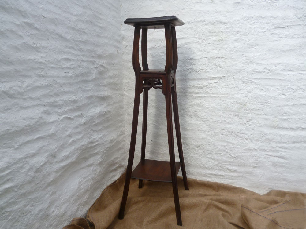 Plant Stand French Three Tiered Plant Stand Mahogany