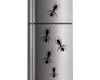 Ant family wall decal set in 5 colors
