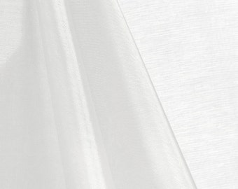 White Mirror Organza Fabric - by the Yard