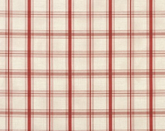 Waverly Pantry Plaid Crimson Fabric -  by the Yard
