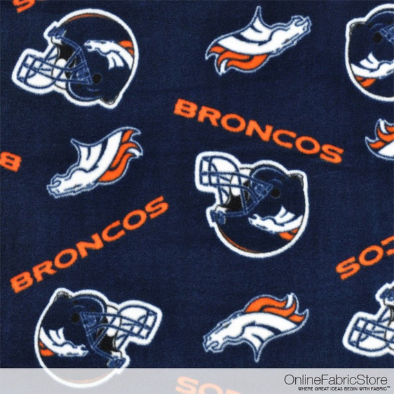 Denver Broncos NFL Fleece Fabric By The By