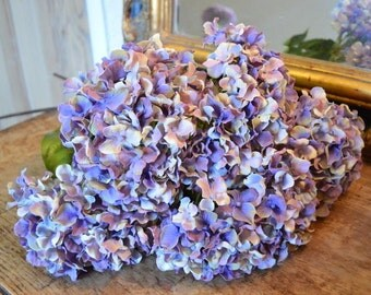 Antique Purple/Blue Artificial Hydrangeas
