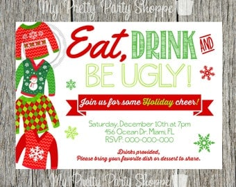 Christmas / Holiday Ugly Sweater Party Invitation