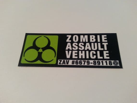 Vehicle Permit Zombie Assault Vehicle Permit