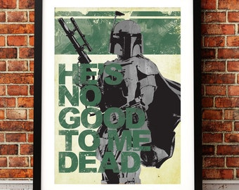 Star Wars Inspired Boba Fett A3 Print