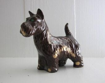 Vintage Scottie Terrier Dog Figurine Ceramic