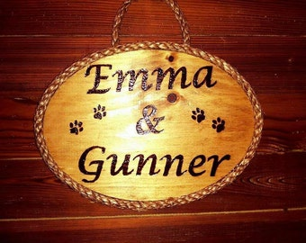 Pet lovers name sign