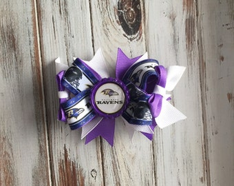 Baltimore Ravens Boutique stacked bow