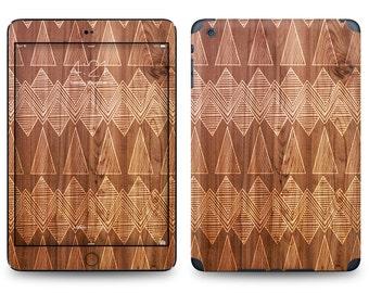 Wood Carvings Pattern - Apple iPad Air 2, iPad Air 1, iPad 2, iPad 3, iPad 4, and iPad Mini Decal Skin Cover