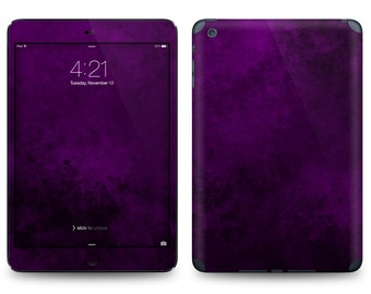 Purple Abstract Print - Apple iPad Air 2, iPad Air 1, iPad 2, iPad 3, iPad 4, and iPad Mini Decal Skin Cover