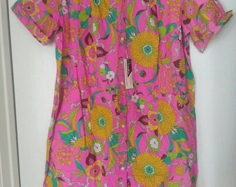 Vintage 1960's Women's Acadia House coat, Duster, Size Large, WITH TAGS, hippie