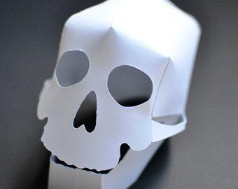 DIY 3D Paper Skull Craft Kit - Kids Craft Kit - Halloween  Crafts - Kid Craft - Halloween Party - Paper Skull - Skull