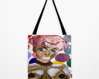 Strawberry Bubblegum Canvas Totebag For You