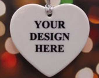 Fashion porcelain heart jewelry yourself (one-sided Druck)