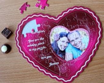 Heart puzzle - your own photo puzzle in heart shape