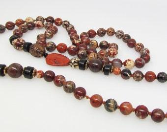 "Italian bead necklace. 35"" long."