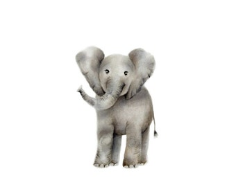 Elephant Nursery Art, Baby Animal, Safari Nursery Print, Grey Nursery Decor, Jungle Nursery, Painting, Baby Wall Art, Boy Nursery