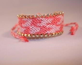 Swarovski Houndstooth friendship bracelet