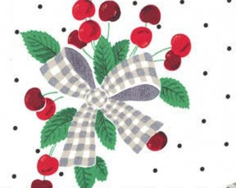 White cherry print skirt