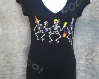 Halloween Cute Skeleton Blouse