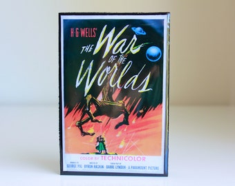 The War Of The Worlds Poster Art displayed in Resin Wood Block
