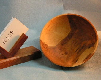 Hand Crafted Cherry Wood Bowl (#268)
