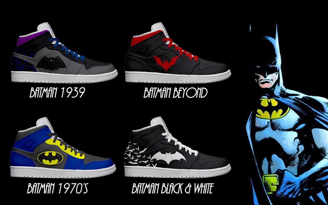 Men S Light Up Batman Shoes Series 1 By Kickolasnage On Etsy