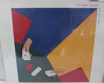 Elton John-1980-21 at 33-Features LIttle Jeannie-Vinyl Record Album
