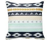 Zippered Agave Field Throw Pillow Cover by Primal Vogue™ - Various Sizes 12x12 14x14 16x16 18x18 20x20 24x24 - Mint Navy Peach Mustard