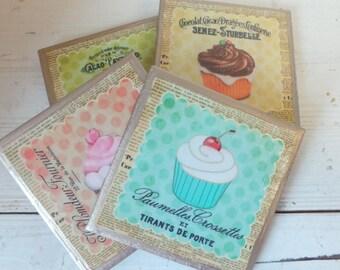 COASTERS!! Set of 4 Cupcake Coasters!