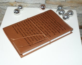 A5 Personalized Leather journal, Medium  8,3x5,8  Refillable Leather notebook , custom Engraved Notebook, A5 refillable leather journal