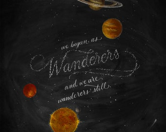 "Carl Sagan - Wanderers - 11""x14"" Art Print"
