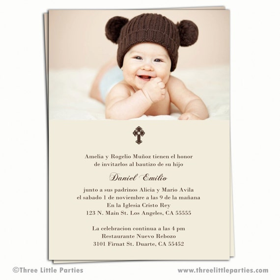 Spanish Baptism Invitations for your inspiration to make invitation template look beautiful
