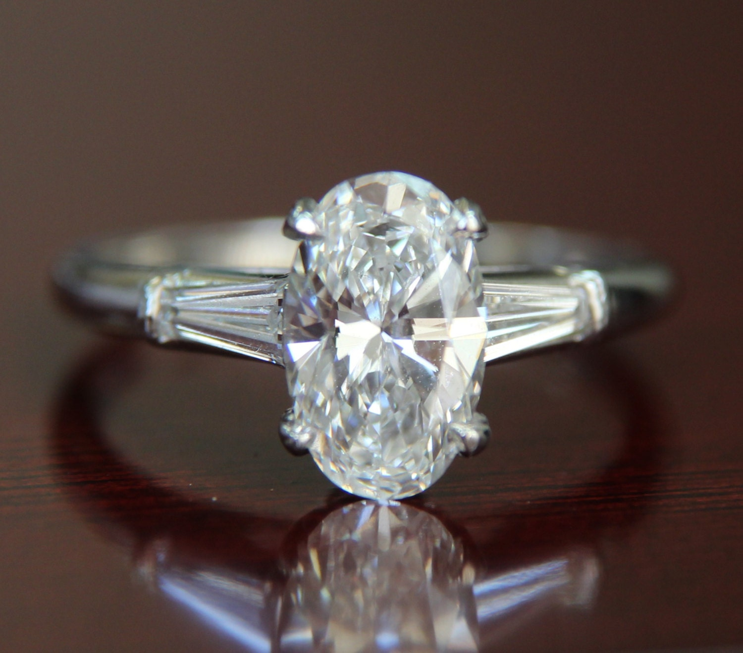 1960s Vintage Tiffany & Co Platinum Diamond Engagement Ring