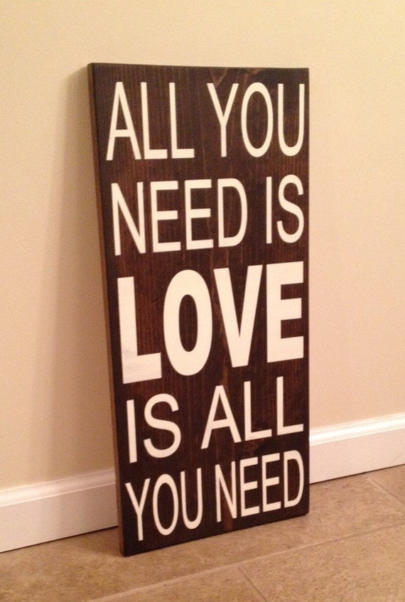Wall Decor All You Need Is Love : All you need is love wood wall art