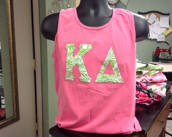 almost sold out kappa delta lilly pulitzer letter shirt on comfort colors