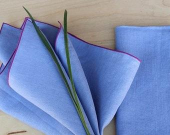 "Lavender Napkins, Purple Napkins, Wedding Napkins, Linen Napkins, Custom Napkins, Cloth Napkins, Table Linens ,set of 4, 20"" sq"