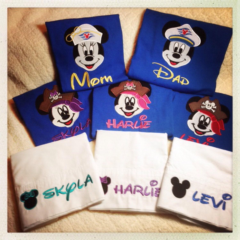 Mickey Mouse Disney Cruise Applique Shirt By Hugginbugstudios