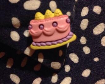 Pink Cake Pin