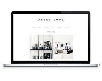 Wordpress Theme - Asterismos - Responsive Wordpress Blog Design - Wordpress Template - Wordpress Theme Feminime - Wordpress Theme Modern