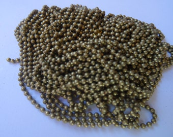 8M Ball Chain Smooth Bronze 2mm Dia. - CHN11B
