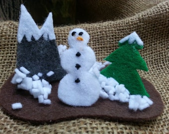 Christmas on the GO!!  Little Snowman Wonderland!  Recycled...Upcycled Altoids Tin Toy.